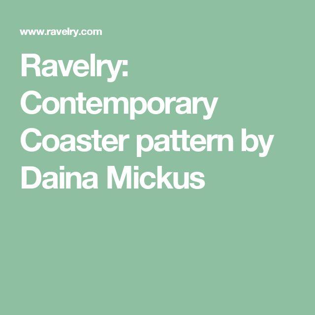 Ravelry: Contemporary Coaster pattern by Daina Mickus