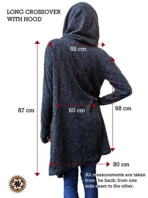 Charcoal #Crossover with Hood - by #Bindidesigns $74