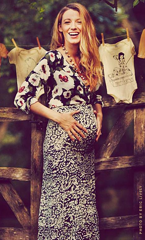 Look at Blake's bump! She just shared some beautiful new pics of her growing belly on Preserve -- alongside a brief essay about her pregnancy thus far.