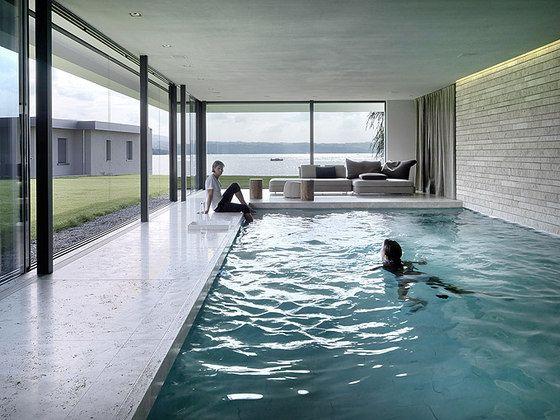 Einfamilienhaus am see pool pinterest hus - Sognare piscine ...