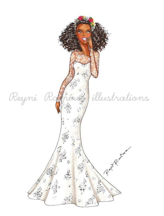 He encontrado este interesante anuncio de Etsy en https://www.etsy.com/es/listing/261387626/wedding-custom-fashion-illustration
