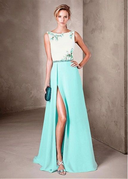 Amazing Chiffon Bateau Neckline  Prom Dresses With Beads