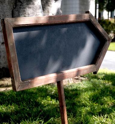 Chalkboard signage arrows!