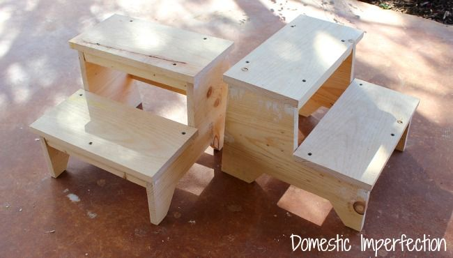 Building childrens stepstools following Anna White's plans