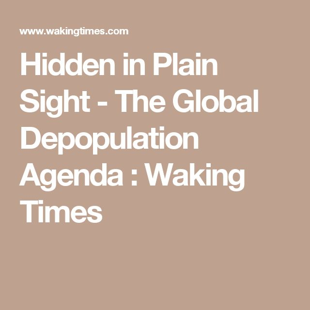 125 best Depopulation Agenda 2016-2030 for NWO images on Pinterest - what is an agenda