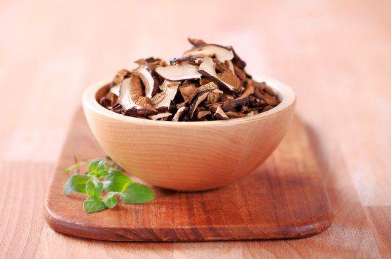 sušené houby