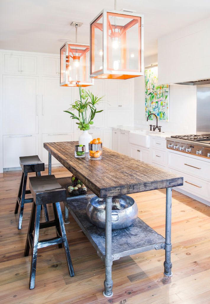 Best 25 Industrial Kitchen Island Ideas On Pinterest