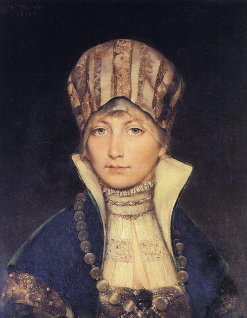 Wilhelm Menzler Casel, Portrait of Woman in Bonnet, 1879