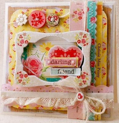 by Sarah Martina for Crate Paper: Album Inspiration, Scrapbooking, Paper Crafting, Mini Albums, Papercraft Scrapbook, Crate Paper, Pretty Card
