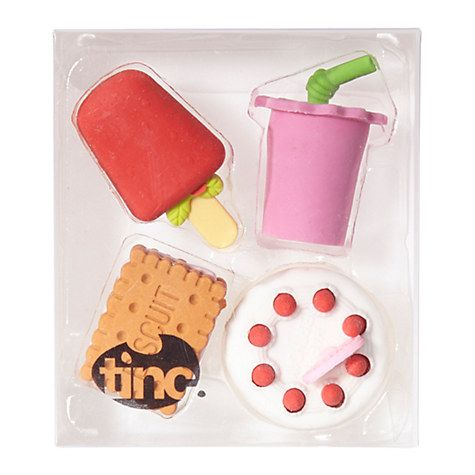Tinc Biscuits Eraser Collection - £4