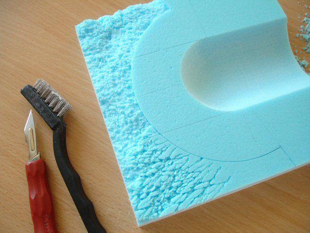 texturing styrofoam surface