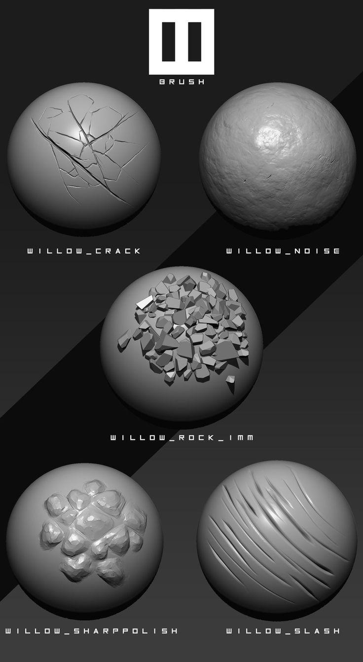Willow Brush Pack, William Ordonneau on ArtStation at https://www.artstation.com/artwork/Yr1zK