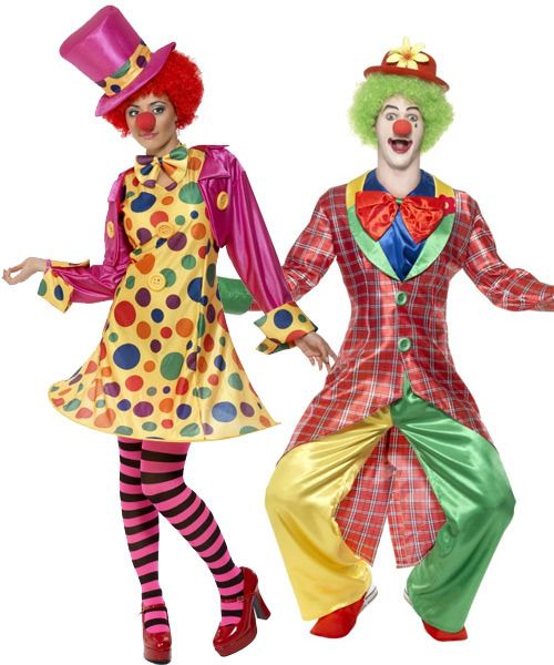 male and female clown costumes - Google Search
