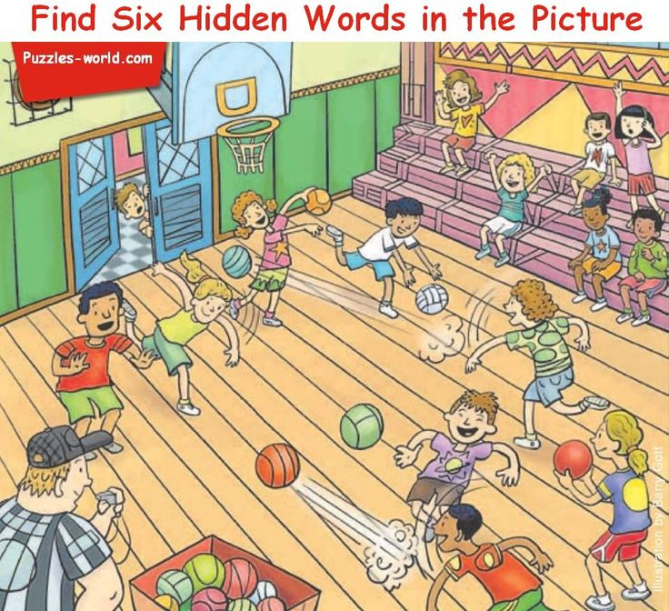 Find Six Hidden words in the Picture | Hidden Word Puzzle | 영어