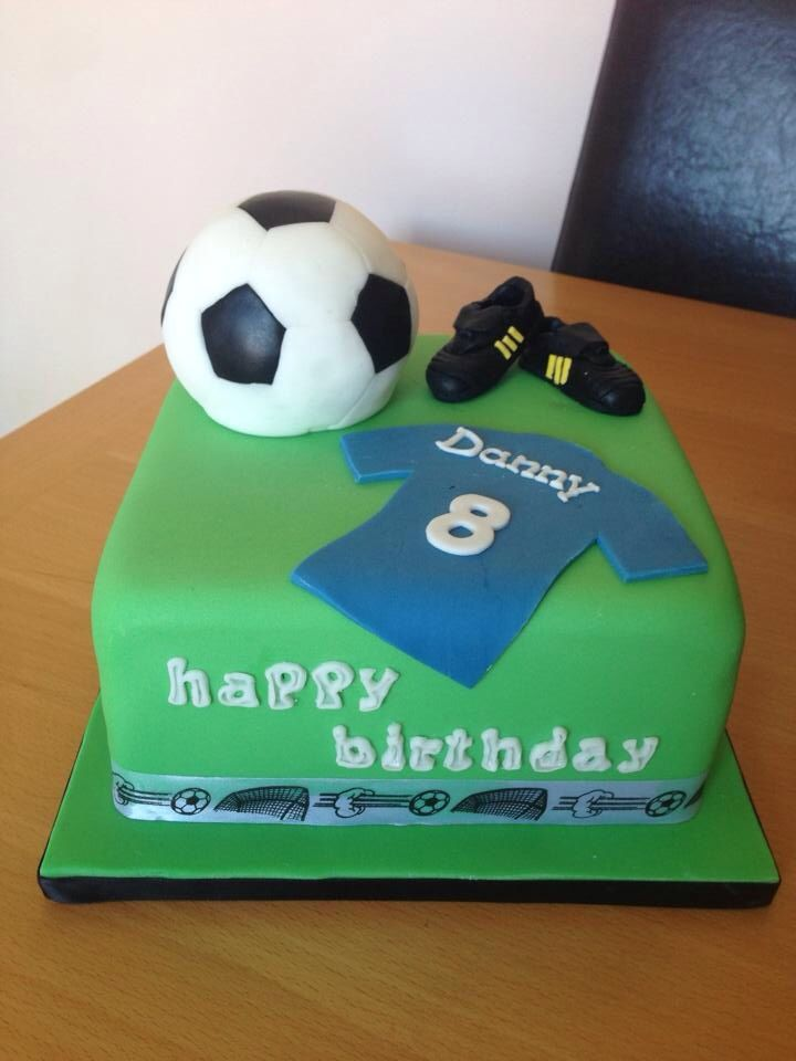 Football Cake With Shirt And Football Boots Boys Soccer
