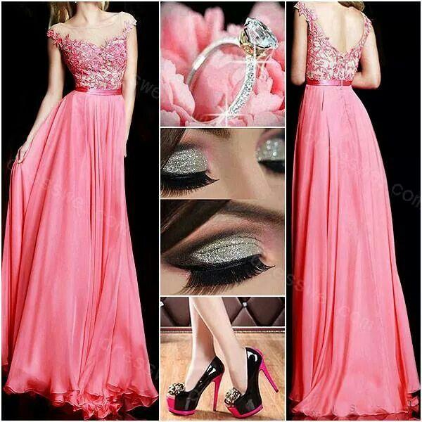 89 best vestidos de noche images on Pinterest | Evening gowns, Party ...