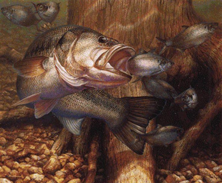 """Серия """"Рыбалка"""" - Схемы вышивки - Niklaos - Авторы - Портал «Вышивка крестом»"""