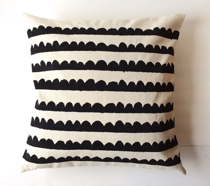 A personal favorite from my Etsy shop https://www.etsy.com/listing/230642562/decorative-pillow-cover-black-scallops