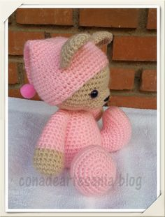 Sleepy bear crochet pattern - Free