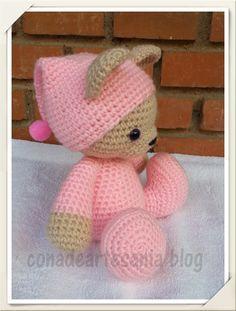 Sleepy bear crochet pattern - Free