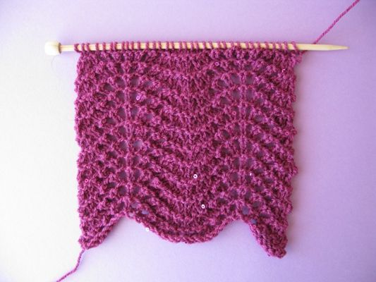 Knitting for you - Knitting the Feather and Fan stitch pattern!