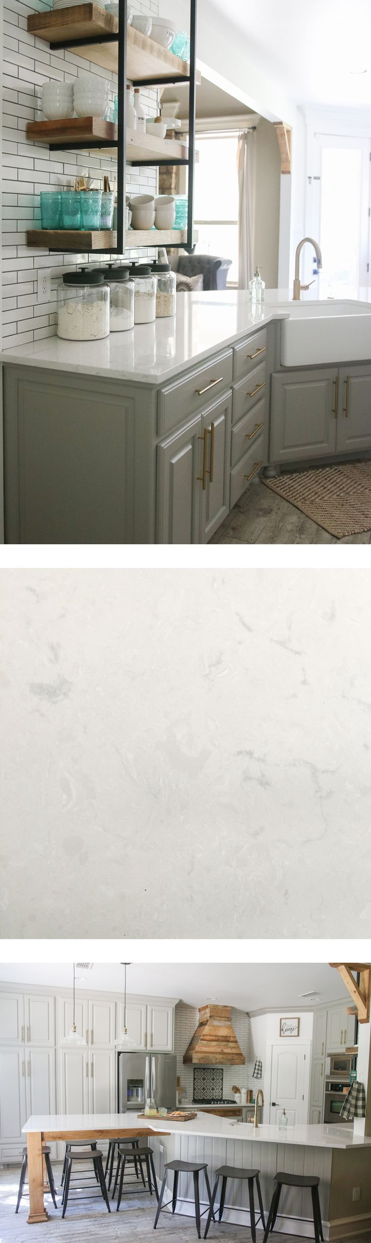 Cambria Quartz countertops in Swanbridge... Looks like marble, but nonporous and maintenance free!