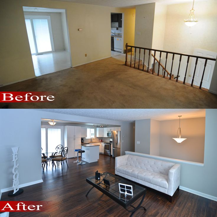 before after open living