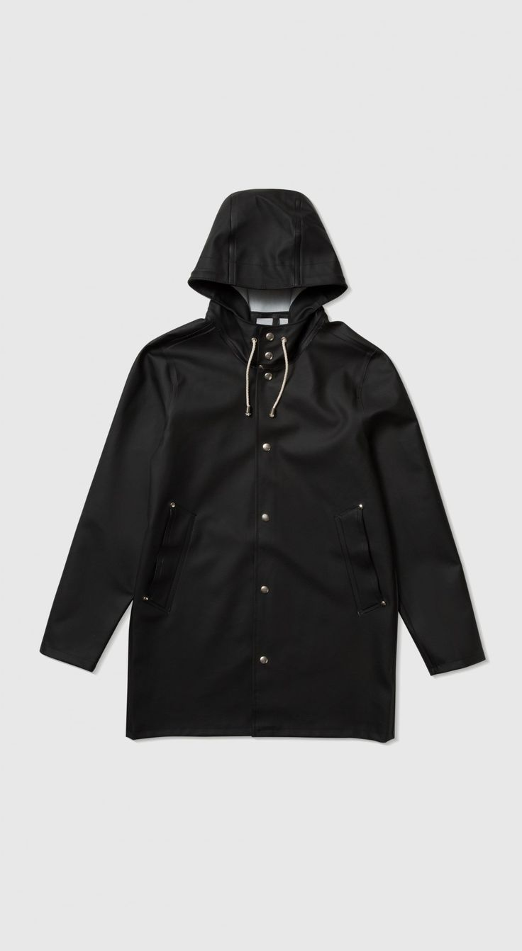 Stockholm Black Raincoat – Stutterheim Raincoats