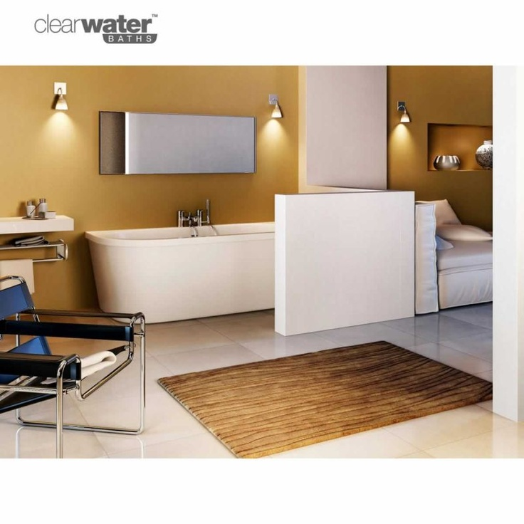 #Contemporary Bath #Bathroom  Product image for Clearwater Saturn Freestanding Bath  www.ukbathrooms.com