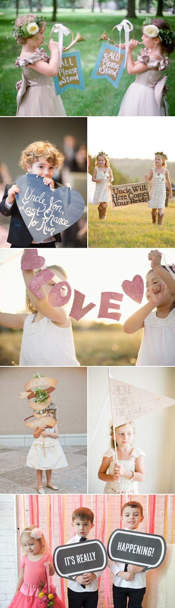 Spell Out Your Love! 46 Fun Wedding Signs - For the kids
