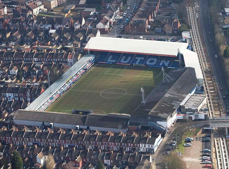 Aerial view of Kenilworth Road. Facing the Kenilworth end.