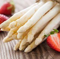 Asperge blanche et sa vinaigrette à la fraise