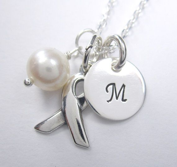 Initial Charm Lung Cancer Pendant   Sterling Silver by LisaMiwa, $30.00