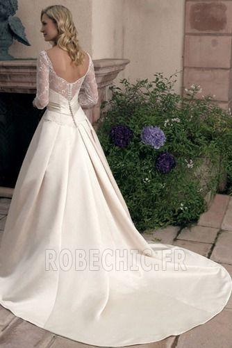Robe de mariée Dignité A-ligne Soie Naturel taille Manche Aérienne - Page 2
