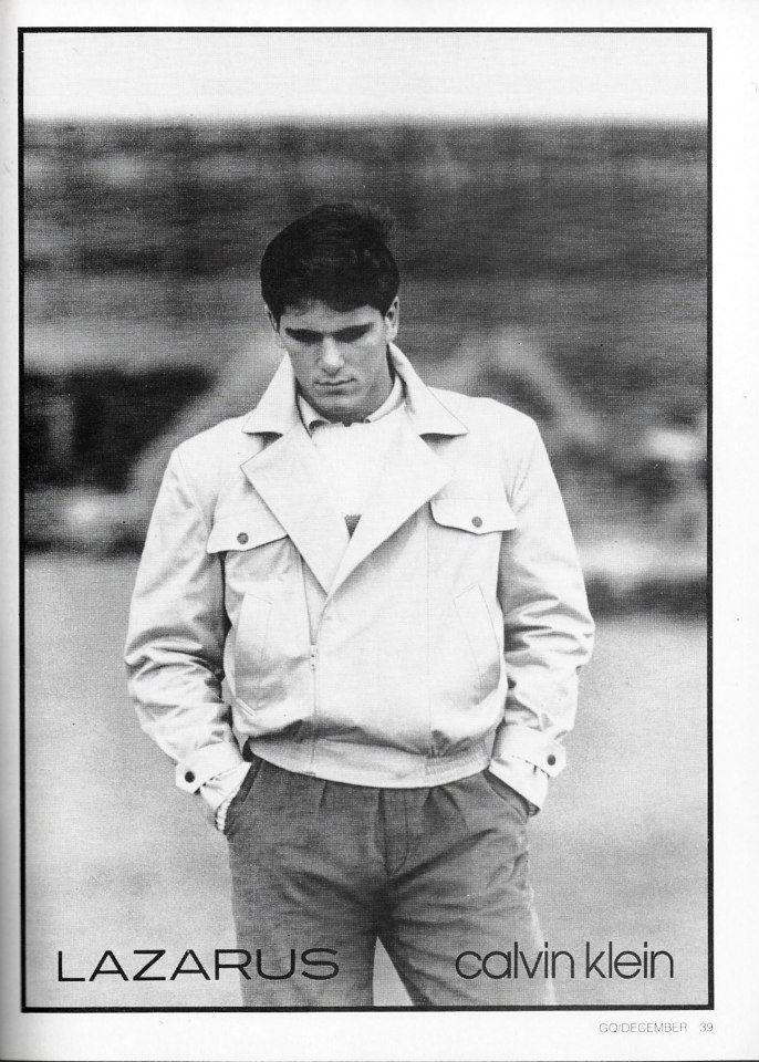 Lazarus for Calvin Klein 1981 GQ December 1981 Model Michael Schoeffling