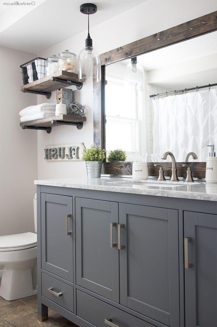 Bathroom : Industrial Farmhouse Bathroom Reveal Cherished Bliss