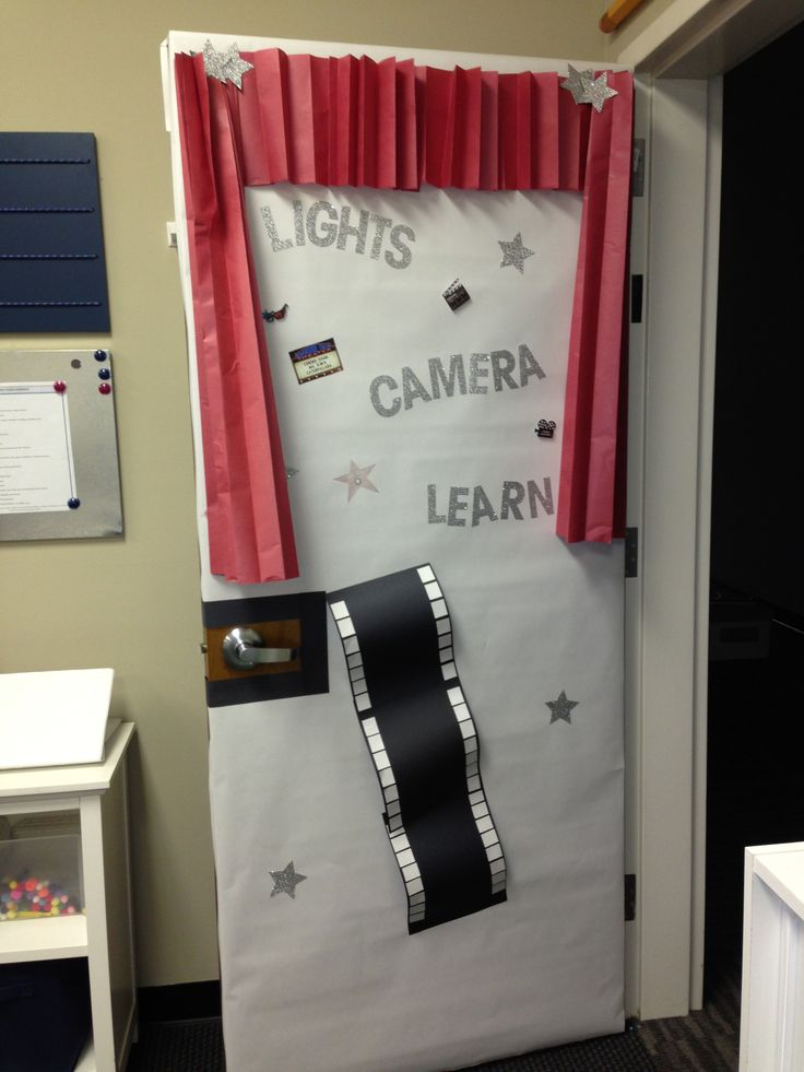Movie themed classroom door