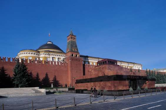 LENIN'S MAUSOLEUM, MOSCOW, RUSSIA The granite structure is the final resting place of Vladimir Lenin, the Father of Russian Revolution. Located in Moscow's Red Square, it contains the Soviet leader's preserved body, which has been on public display there since shortly after his death in 1924.