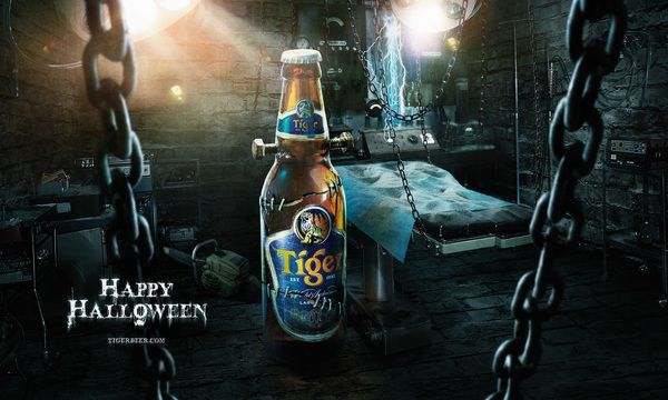 Tiger Beer Halloween by JamieToh, via Behance