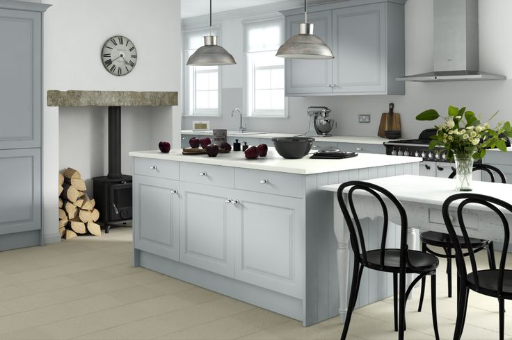 Like: grey cabinets, white top Wren Kitchens - Linda Barker collection