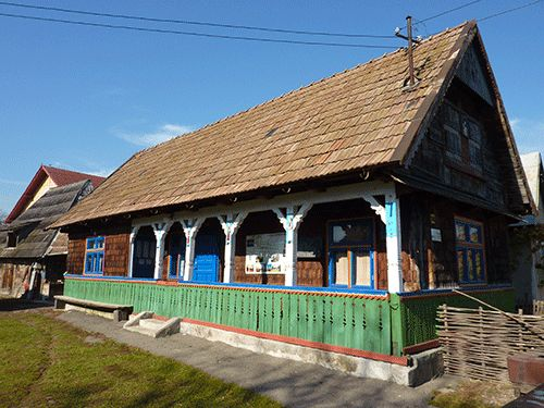 Maison du village de Sapanta en Roumanie