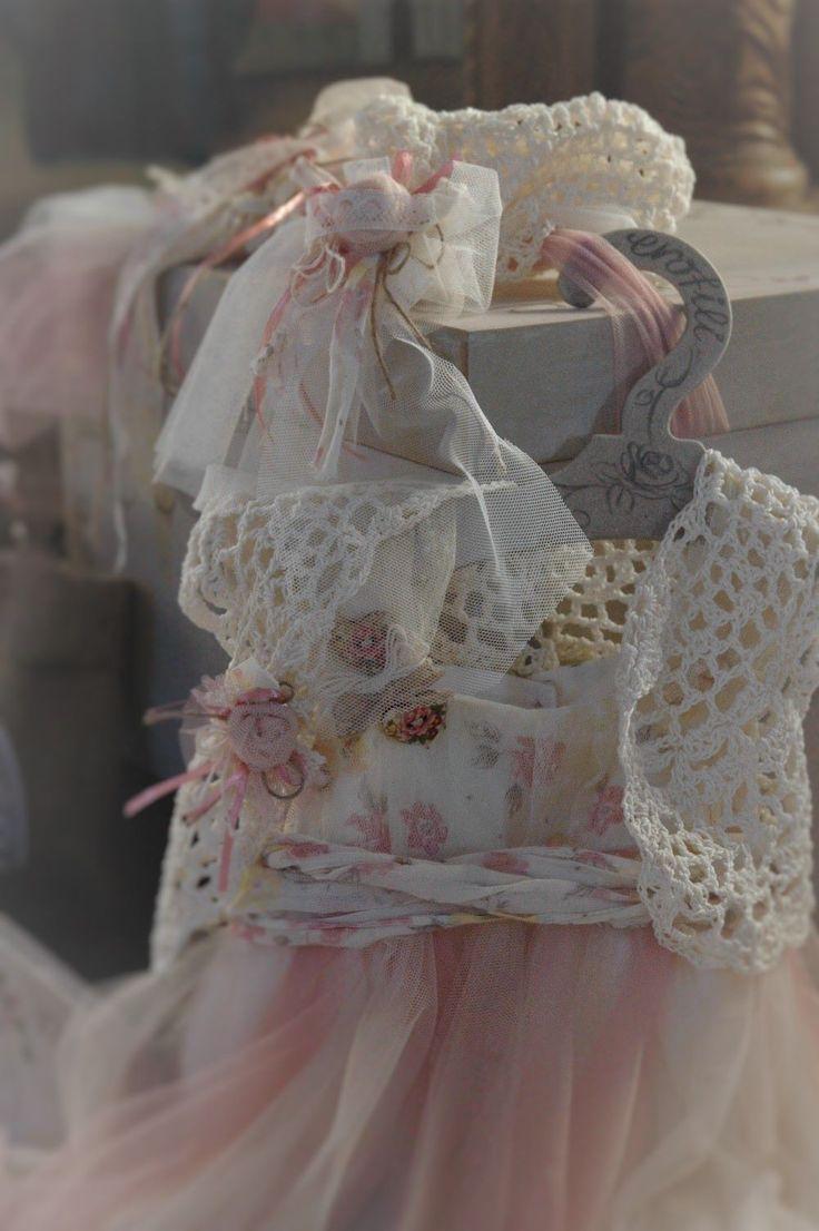by erofili design, romantic, vintage inspired, handmade baptism floral dress, silk tulle, handmade crochet lace, saumon, offwhite, beige, handmade flowers