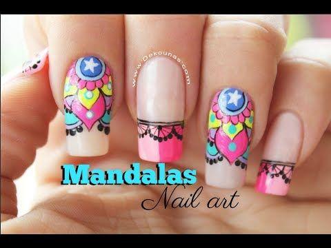 Diseño de uñas Mandalas - Mandalas Nail art tutorial - YouTube