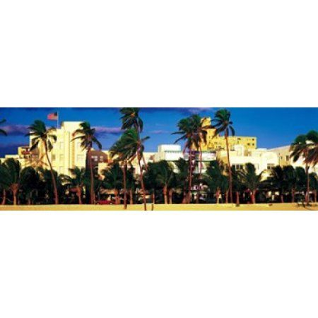 Ocean Drive South Beach Miami Beach FL USA Canvas Art - Panoramic Images (36 x 12)