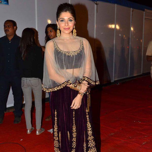 Kanika Kapoor at the Umang Police Show 2016. #Bollywood #Umang2016 #Fashion #Style #Beauty #Hot #Punjabi