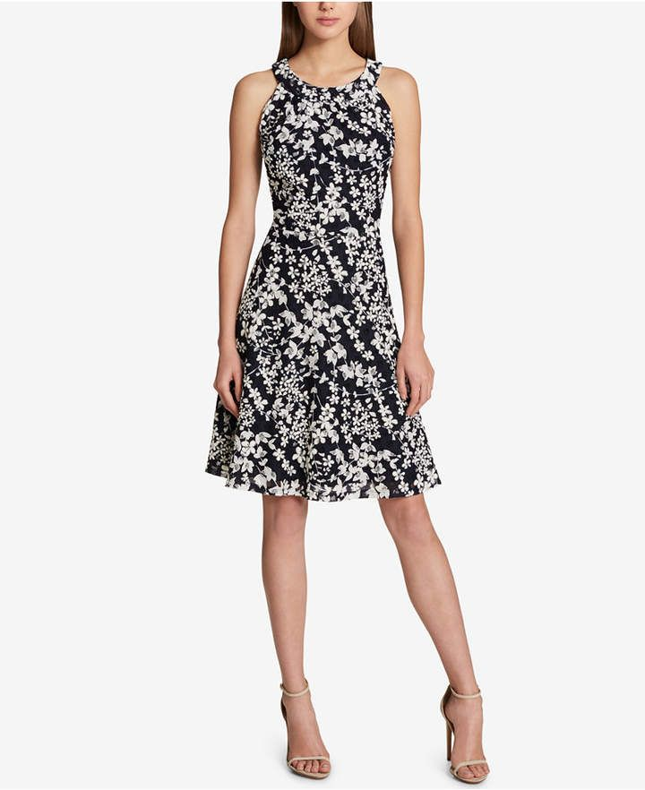 3589fe04 Tommy Hilfiger Floral-Printed Lace Fit & Flare Dress | Dutchess ...