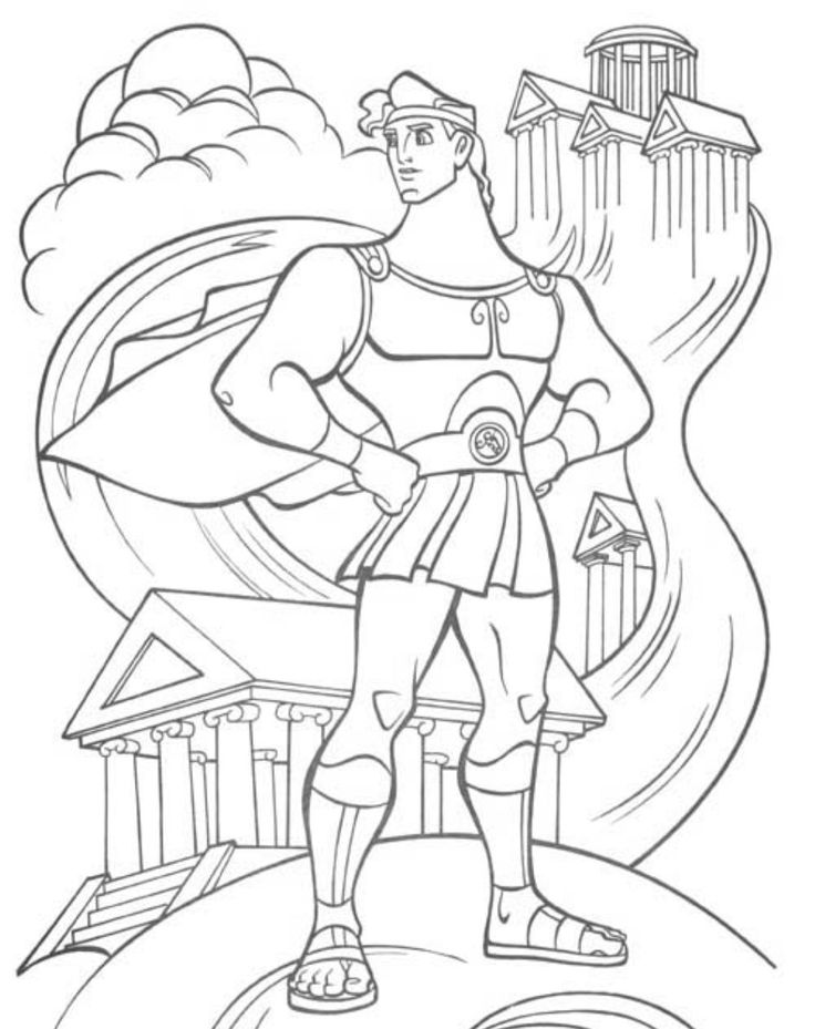 126 best Disney Hercules images on Pinterest | Colouring pages ...