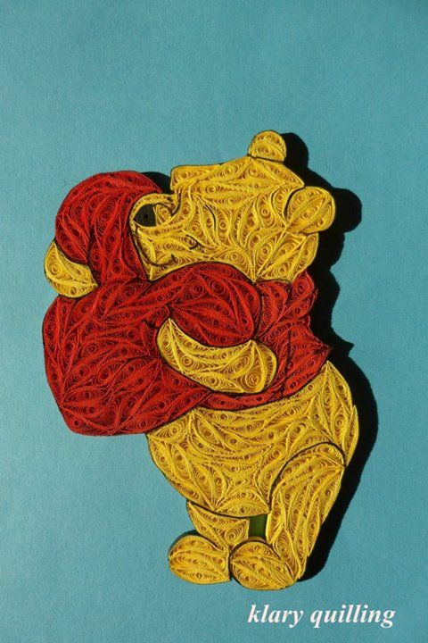 Winnie the Pooh quilled