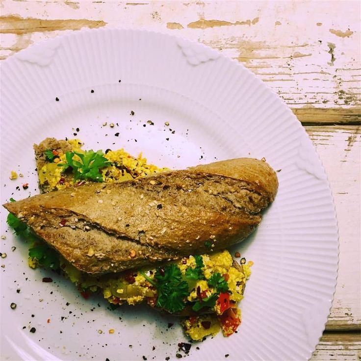 Scrambled tofu / vegansk scrambled eggs