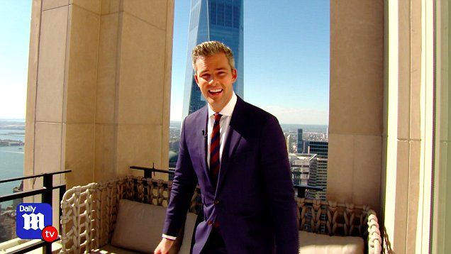 DailyMailTV correspondent Ryan Serhant takes you on a tour of $30 million penthouse where even a closet offers a great view.